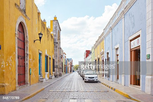 Streetview in Campeche, Mexico