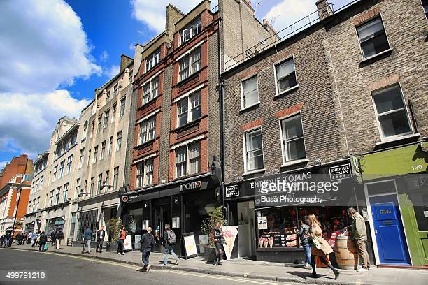 Streetview in Soho, City of Westminster, London, UK