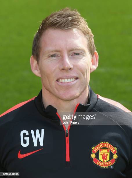 Strength and Conditioning coach Gary Walker of Manchester United poses during the annual club photocall at Old Trafford on September 16 2014 in...