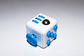 white-blue stress Cube