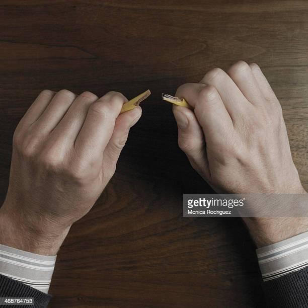 Stress Hands on desk