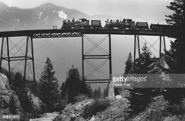 Stress test on the Georgetown loop trestle bridge taken June 1 1984 Credit The Denver Post