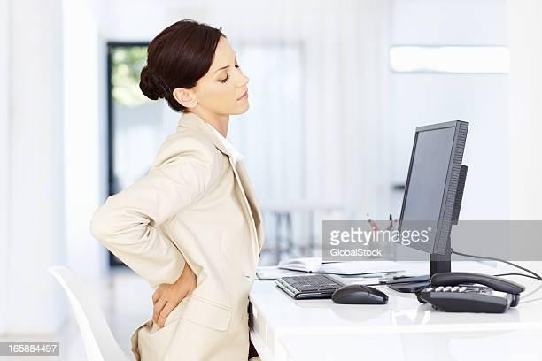 Femme d'affaires stressé