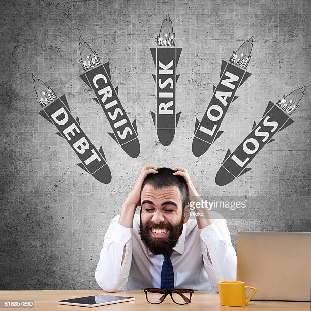 Empresario a tensión