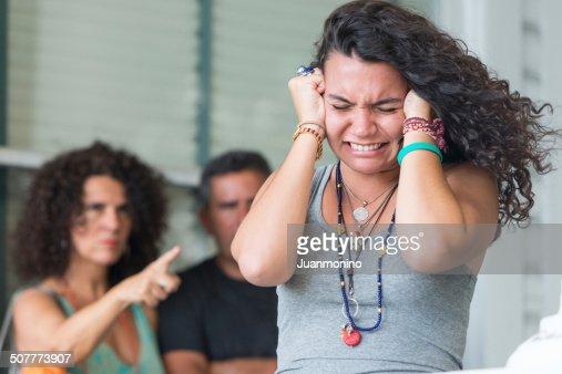 Stressed Daughter