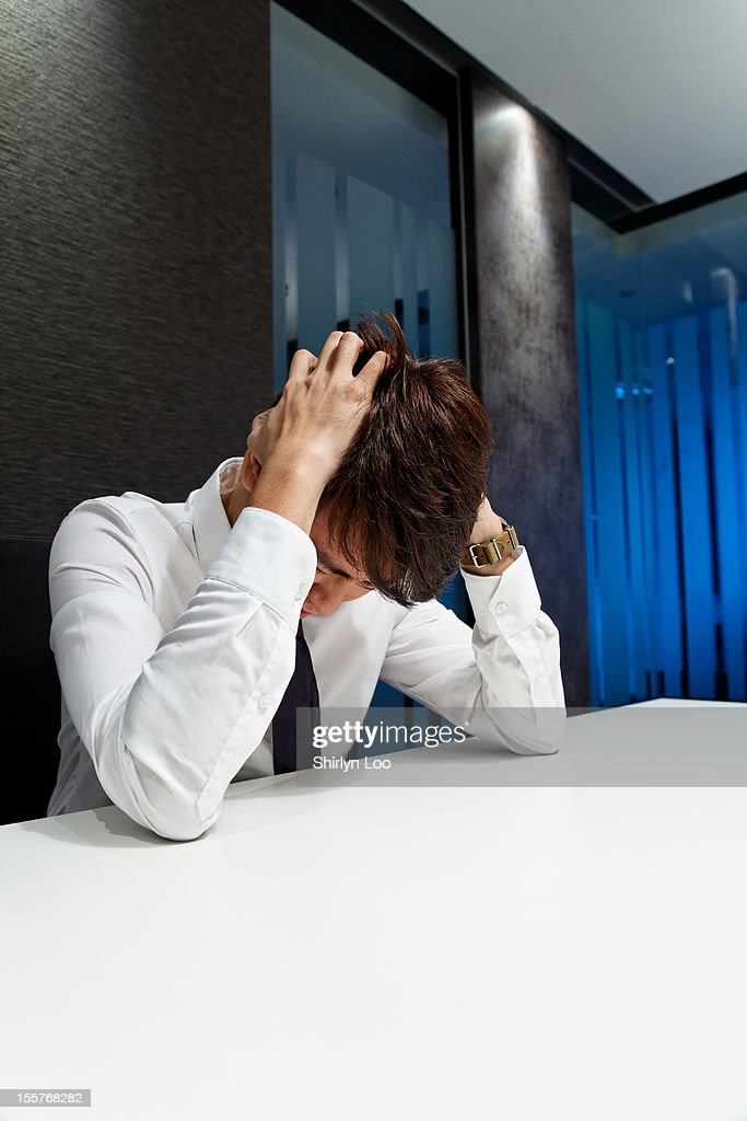 Stressed Out Office Executive : Stock Photo