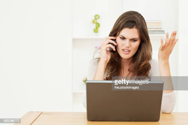Stressful Woman With Computer