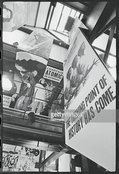 Stressing the Revolution Montreal Canada A Cuban hostess shows a visitor through her country's pavilion at the 1967 world exhibition Expo 67 The...