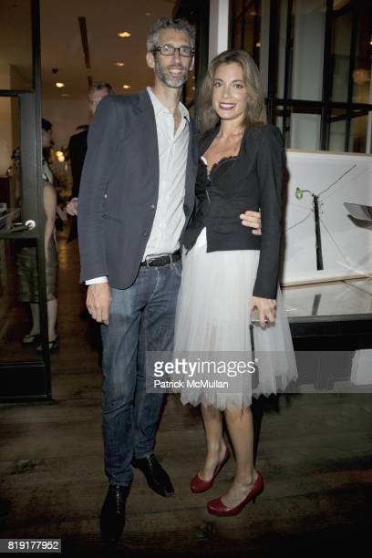 Stretch Armstrong and Kate Krone attend 2nd Annual Australians in New York Fashion Foundation Party at Crosby Street Hotel on July 27 2010 in New...