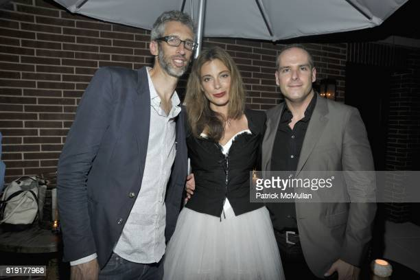 Stretch Armstrong Kate Krone and Patrick McGregor attend 2nd Annual Australians in New York Fashion Foundation Party at Crosby Street Hotel on July...