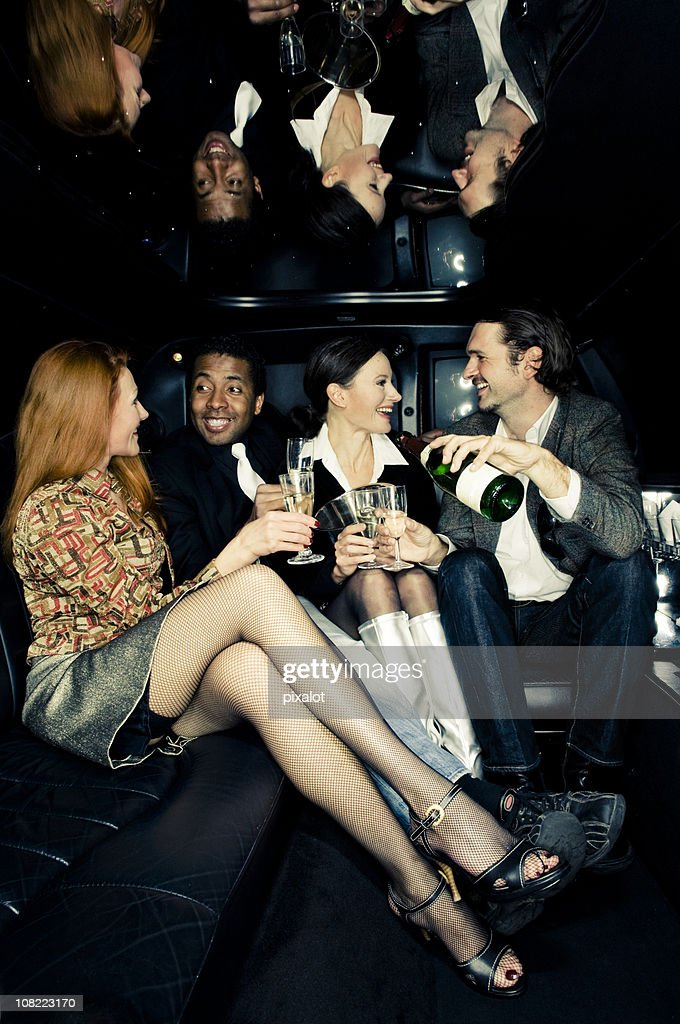 Stretch Limo Party : Stock Photo