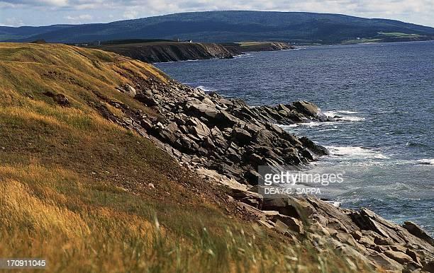 Stretch of coast between Cheticamp and Pleasant Bay Cape Breton Highlands National Park Nova Scotia Canada
