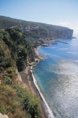 Stretch of coastline in Vico Equense Campania Italy