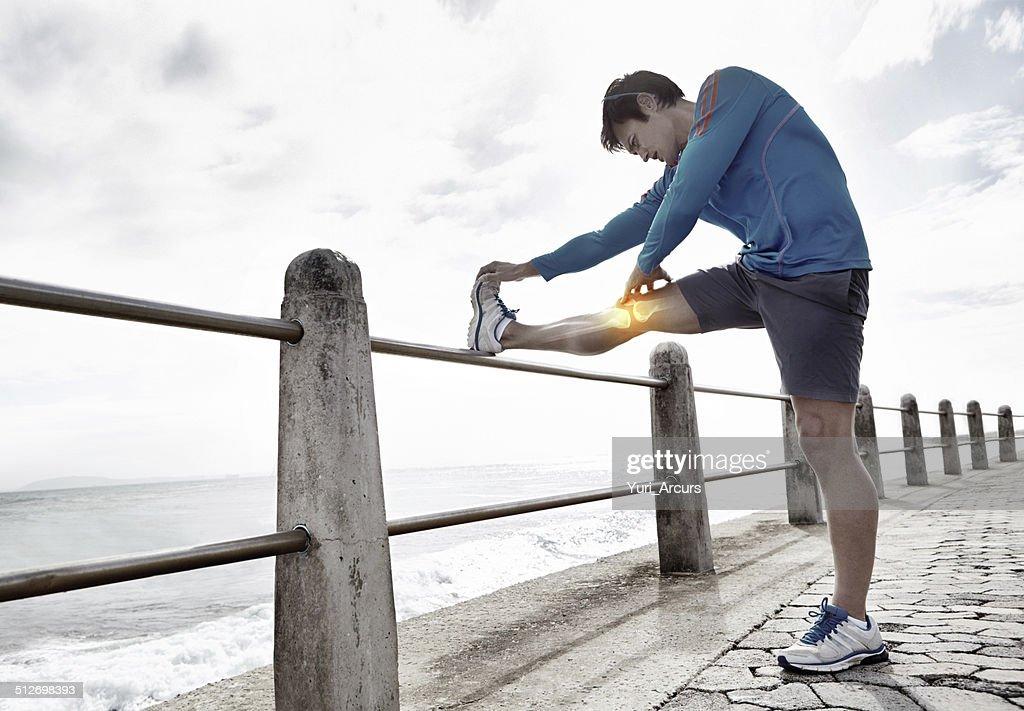 Stretch.and evitare lesioni : Foto stock