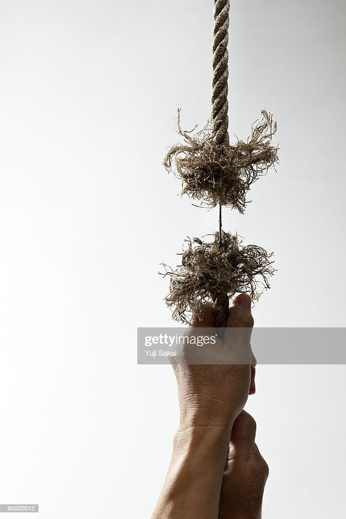 stretched rope : Stock Photo