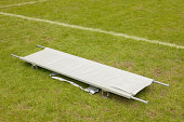 Stretcher on football pitch