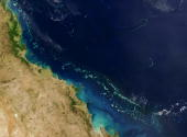 Stretching along more than 2000 km of Australia's eastern coast is one of the world's formost natural wonders The Great Barrier Reef seen here in...