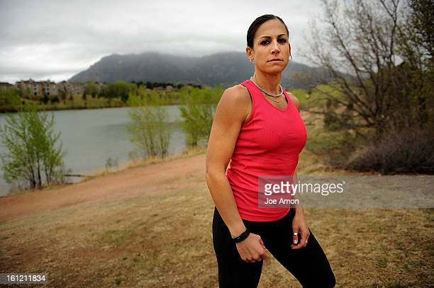 Stretching at Quail Lake Park Army Major Rebecca Hoffman stationed on Peterson Air Force Base in Colorado Springs just celebrated her 18th year in...