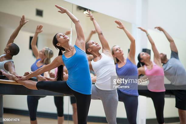 Stretching During a Barre Class