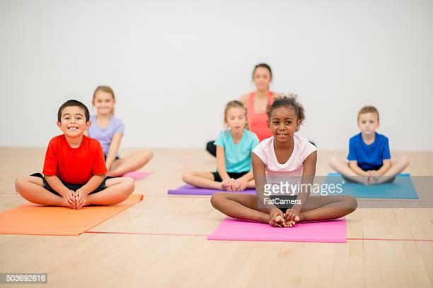 Während Yoga Stretching