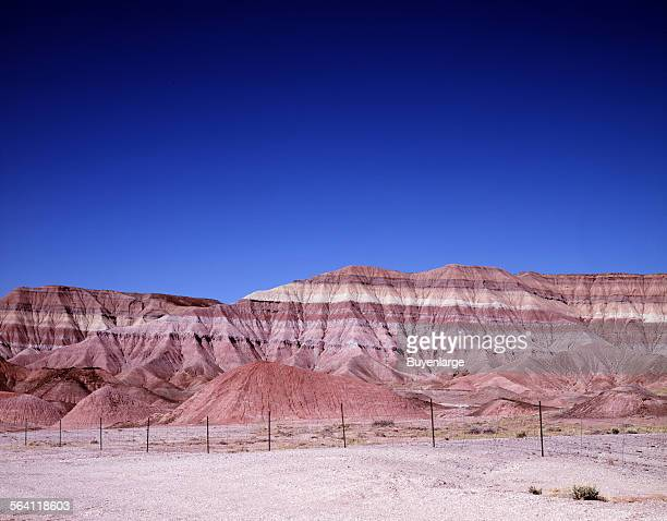 Striated rock outcropping in the Utah desert
