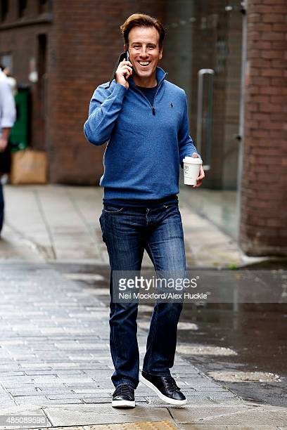 Strictly dancer Anton Du Beke seen at a rehearsal studio on August 24 2015 in London England Photo by Neil Mockford/Alex Huckle/GC Images