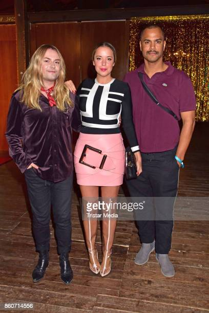 Strify Marina Hoermanseder and Patrice Bouedibela attend the Amorelie Christmas Calender Launch Dinner on October 12 2017 in Berlin Germany