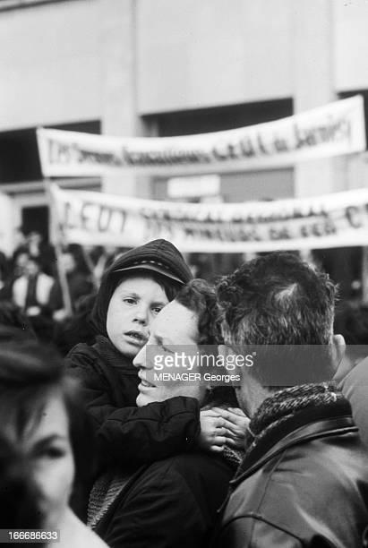 Strike Of Iron Miners In Lorraine En France en mars 1967 à Metz en Lorraine les mineurs de fer sont en grève et occupent leur lieu de travail Pour...