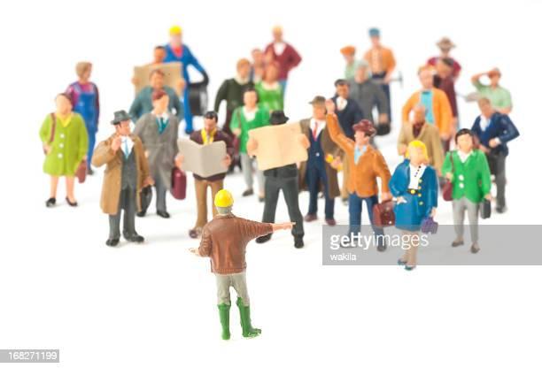 Striking people abstract figurine