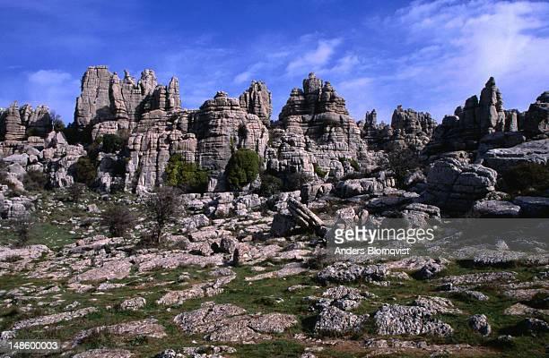 Striking rock formations at El Torcal.