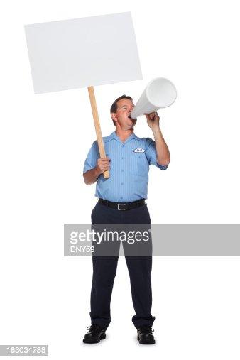 Striking Worker