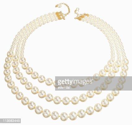 string of pearls Schnitt auf Weiß
