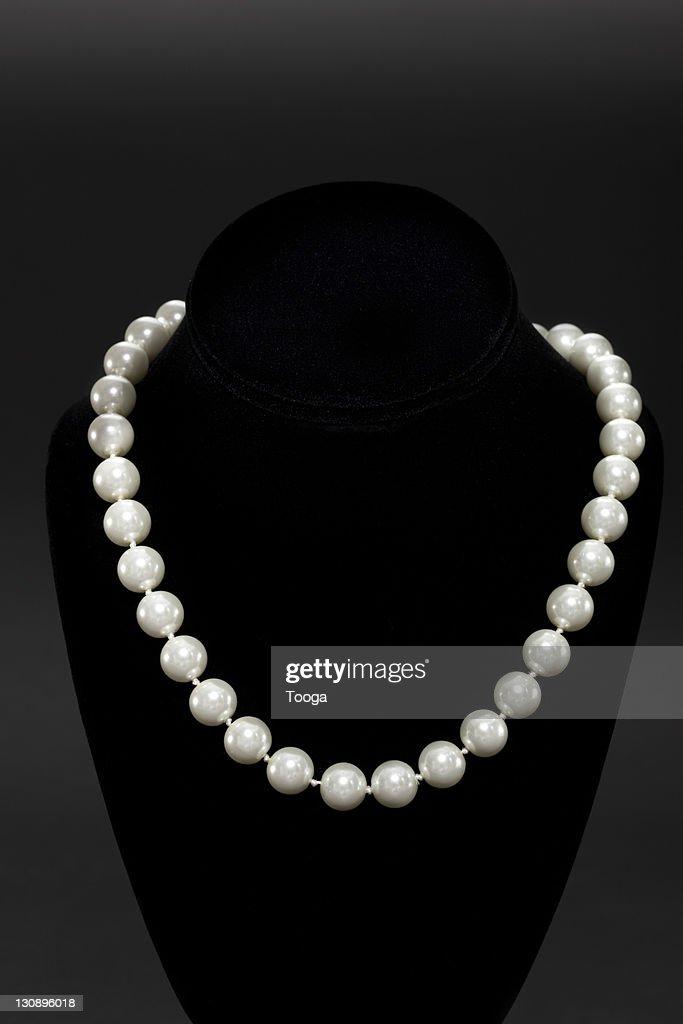 String of pearls on display