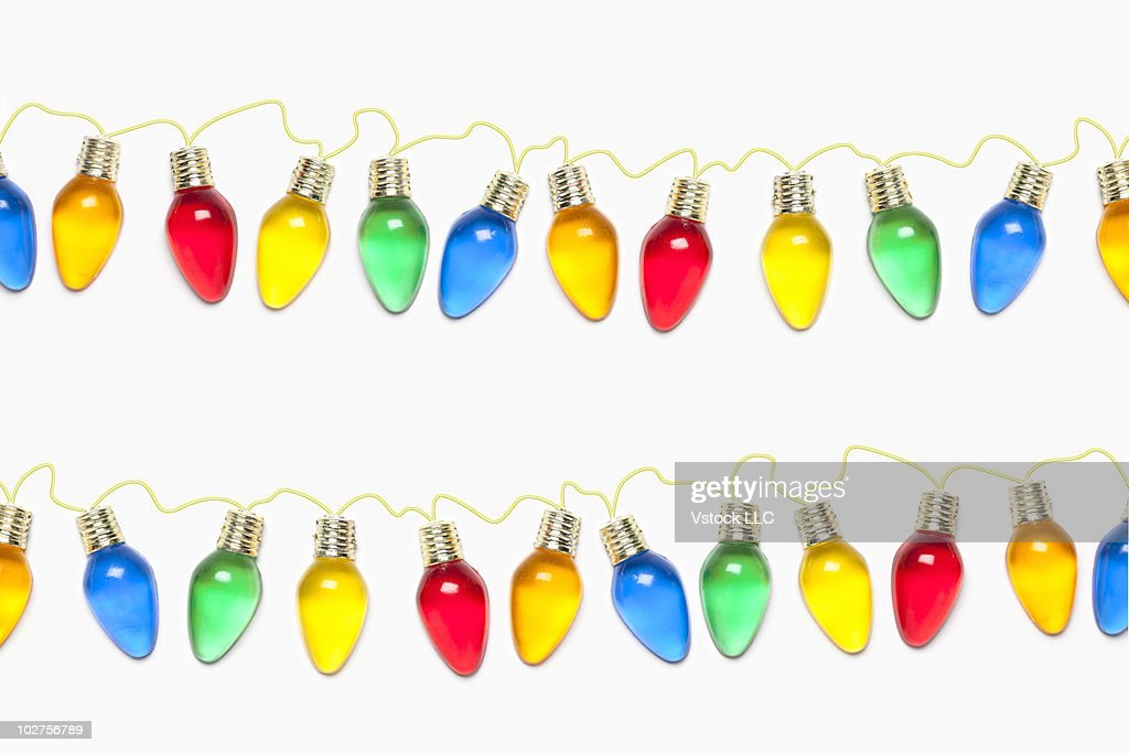 Strings Of Colored Christmas Light Bulbs Stock Photo Getty Images