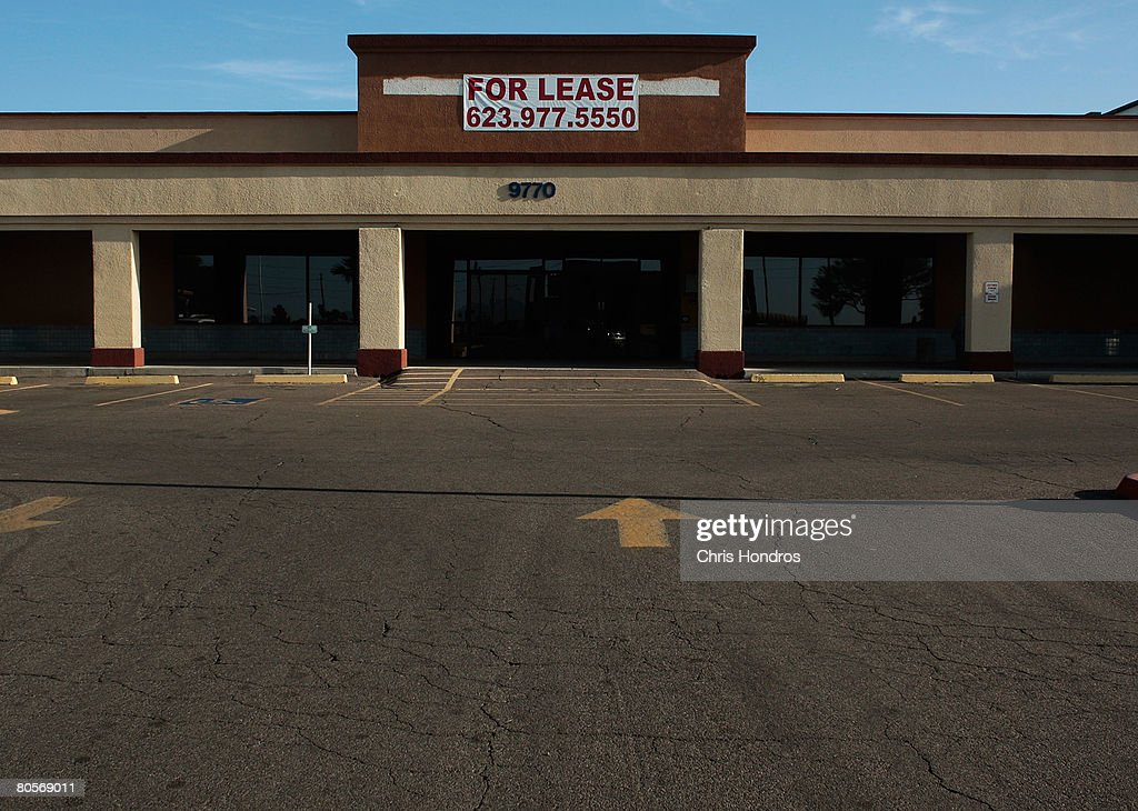 A strip mall store sits empty April 7, 2008 in Ontario, California. The area has been hard-hit by the national housing meltdown, with related businesses starting to feel the effects.