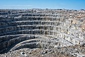 Strip mining in Canada's arctic.  This pit has been closed for years and the company out of business.