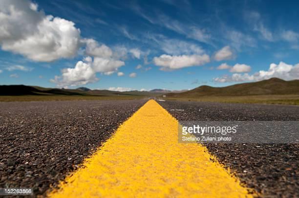 A strip of asphalt into thin air