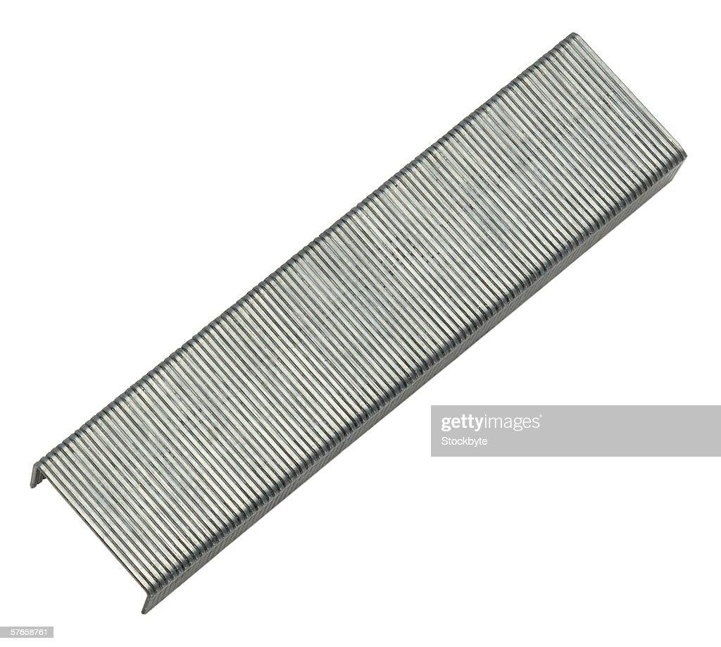 strip of staple pins
