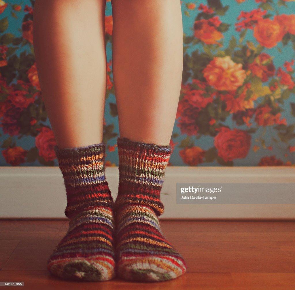 Strip socks : Stock-Foto