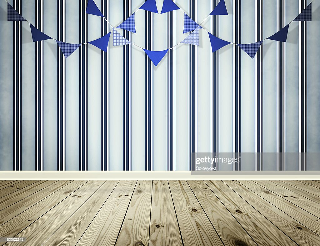 Stripe wallpaper background with pennants festoon : Stock Photo