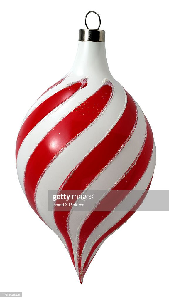 Striped Christmas ornament : Stock Photo