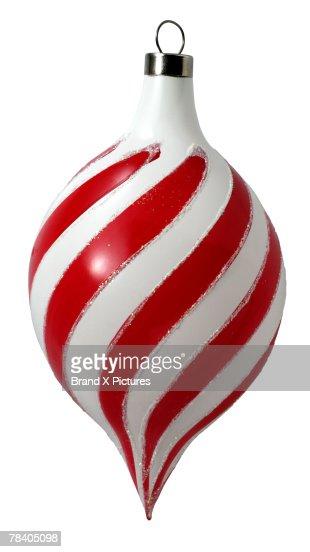 Striped Christmas ornament : Stock-Foto