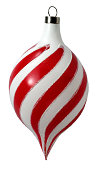Striped Christmas ornament