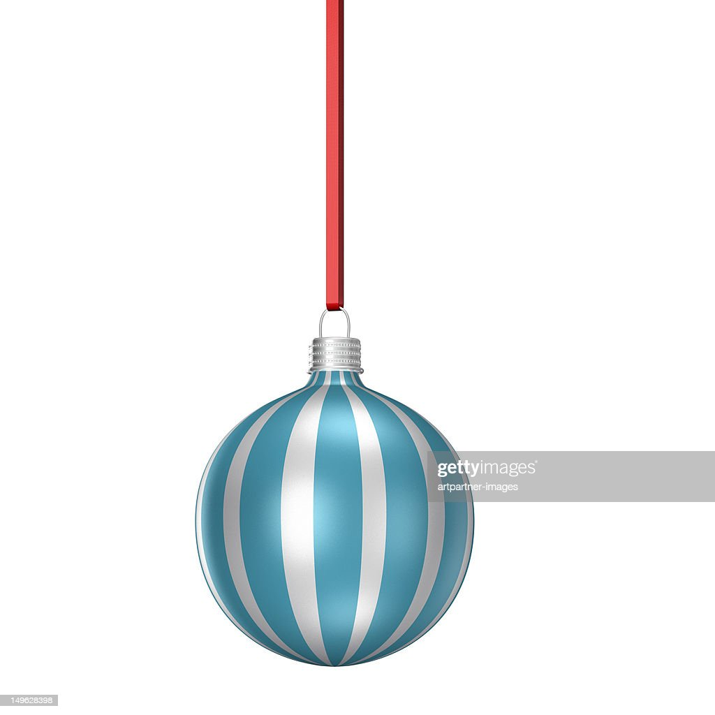 Striped christmas tree ornament or bauble