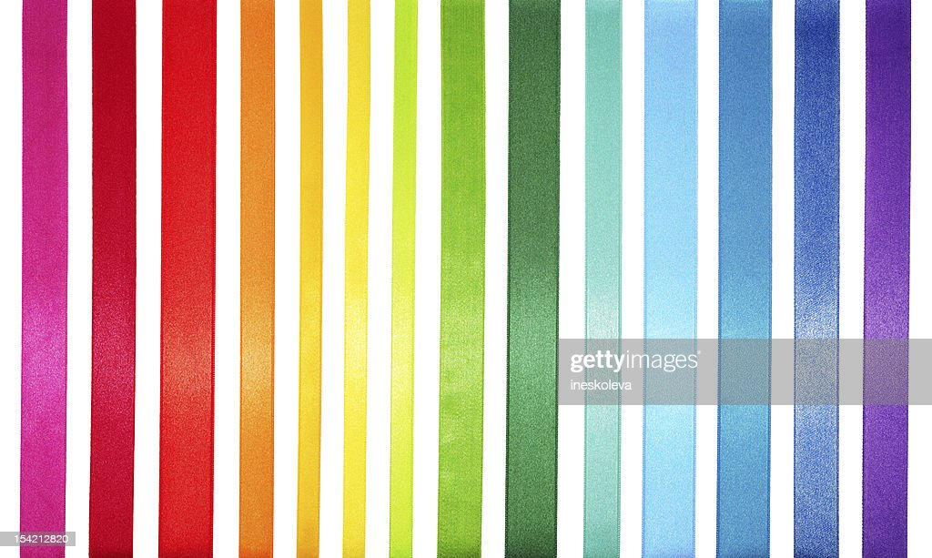 A striped colored spectrum of rainbow colors