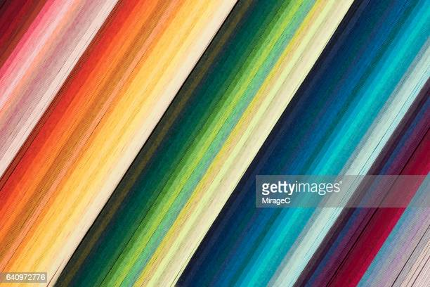 Striped Colorful Paper in Stack