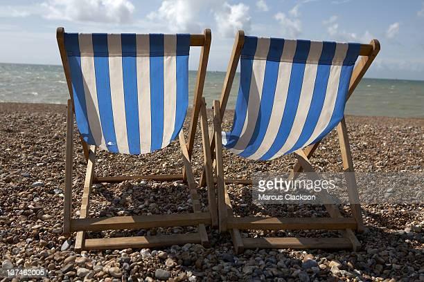 Rayures transat sur la plage de Chagrin