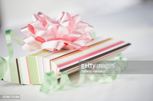 Striped Gift Box : Stock Photo