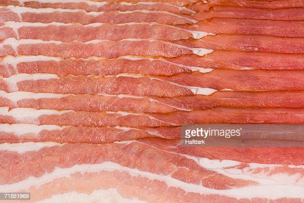 Strips of bacon close-up