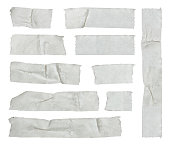 Strips of masking tape isolated on white